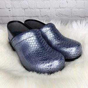 Dansko Pro XP Caiman Leather Reptile Print Clog 42